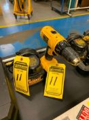 DEWALT DC970 1/2'' CORDLESS DRILL, (2X) 18 V. BATTERIES, AND CHARGER