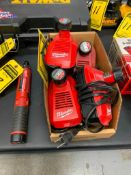 MILWAUKEE 1/4'' CORDLESS SCREWDRIVER, 4 V. AND (4) BATTERY CHARGERS W/ BATTERIES