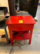 20-GALLON PARTS WASHER & JUSTRITE CAN