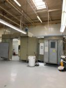 SERVAIR PAINT BOOTH, MODEL SPB6815-1, BOLTED METAL CONSTRUCTION, 54''W X 9'H X 20'L OVERALL DIMENSIO