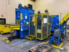 SCHULER AUTOMATIC INDEXABLE NOTCHING STATION, CONSISTING OF 1998 SCHULER SHAFT HOLE BLANK PRESS, MOD