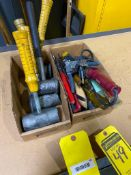ASSORTED HAND TOOLS AND LEAD MALLETS