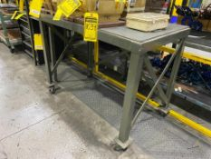 45'' X 24'' ROLLING SHOP CART, 24'' X 20'' TABLE
