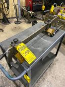 (2) IMI POWER LIFT PNL0800 LIFTING MAGNETS, 800 LB. CAP., MOUNTED ON ADJUSTABLE LIFTING FRAME