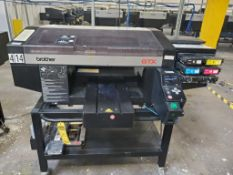 BROTHER GTX 422 DIRECT TO GARMENT PRINTER; WITH LENOVO THINKPAD, S/N D8928051
