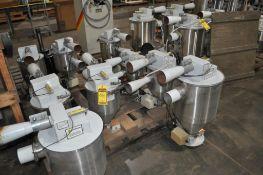 (9) PROCESS CONTROL CORPORATION VACUUM RECEIVER FOR CONTINUOUS GRAVIMETRIC BLENDER FOR PLASTIC PELLE