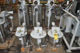 (6) PROCESS CONTROL CORPORATION VACUUM RECEIVER FOR CONTINUOUS GRAVIMETRIC BLENDER FOR PLASTIC PELLE