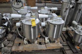 (5) PROCESS CONTROL CORPORATION VACUUM RECEIVER FOR CONTINUOUS GRAVIMETRIC BLENDER FOR PLASTIC PELLE