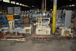 JAPAN STEEL WORKS HYDRAULIC PLASTIC TWIN SCREW EXTRUDER, CONTINUOUS INTENSIVE MIXER, TYPE: CIM 90 P,