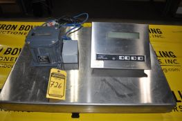 METTLER-TOLEDO STAINLESS STEEL SCALE W/ EXPLOSION PROOF POWER SUPPLY CONVERTOR, TYPE: ID2SX/USA, DIG