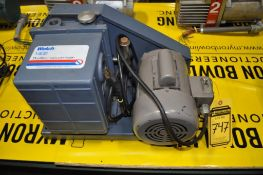 WELCH DUOSEAL VACUUM PUMP, MODEL: 1402, SINGLE PHASE