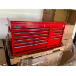 (NEW) BRITOOL 11-DRAWER TOP TOOL CHEST; 40.5'' X 18'' W/HANDLES; RED