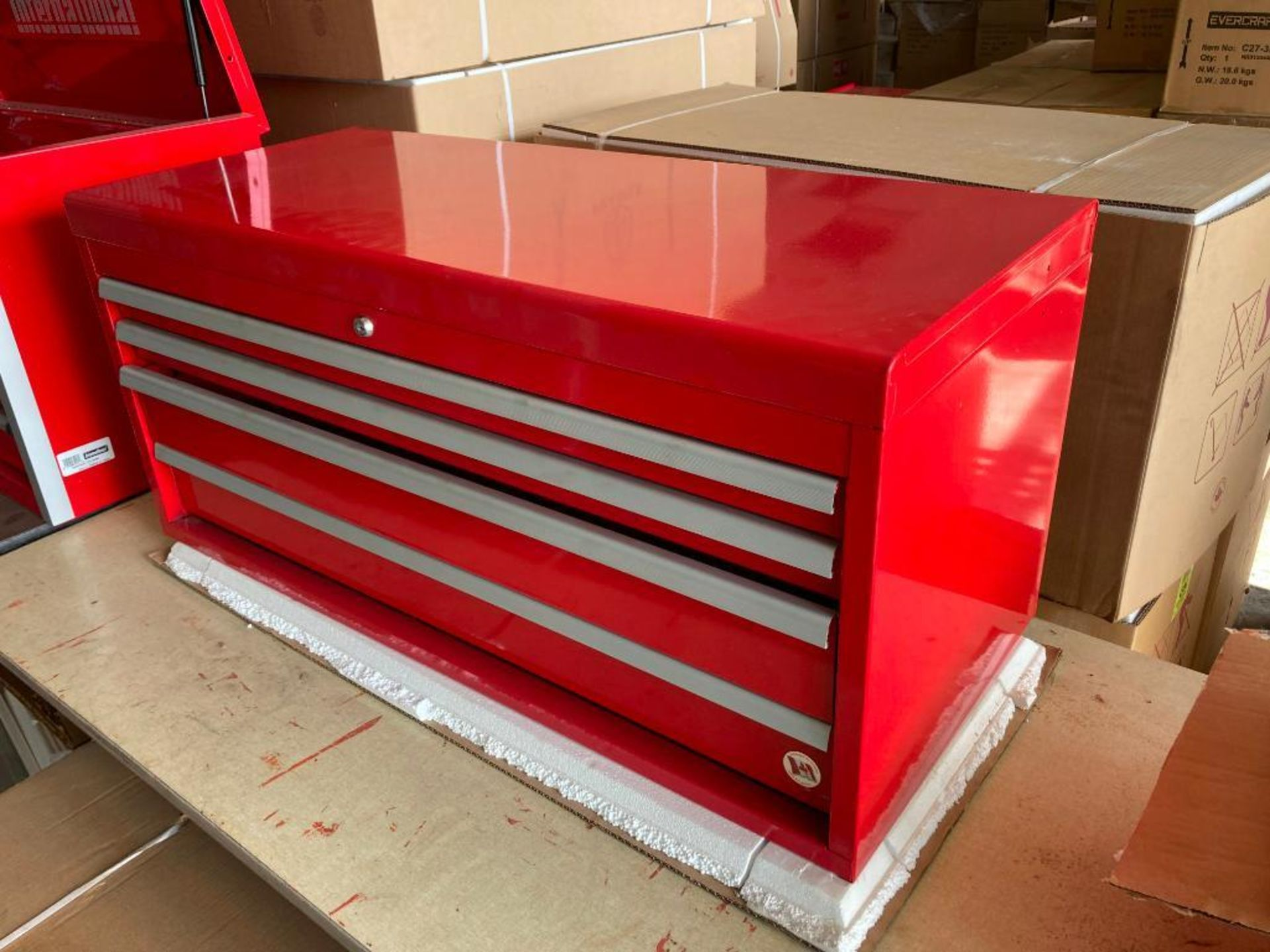 (NEW) INTERNATIONAL 4-DRAWER TOP TOOL CHEST; 40'' X 18''; RED - Image 2 of 2