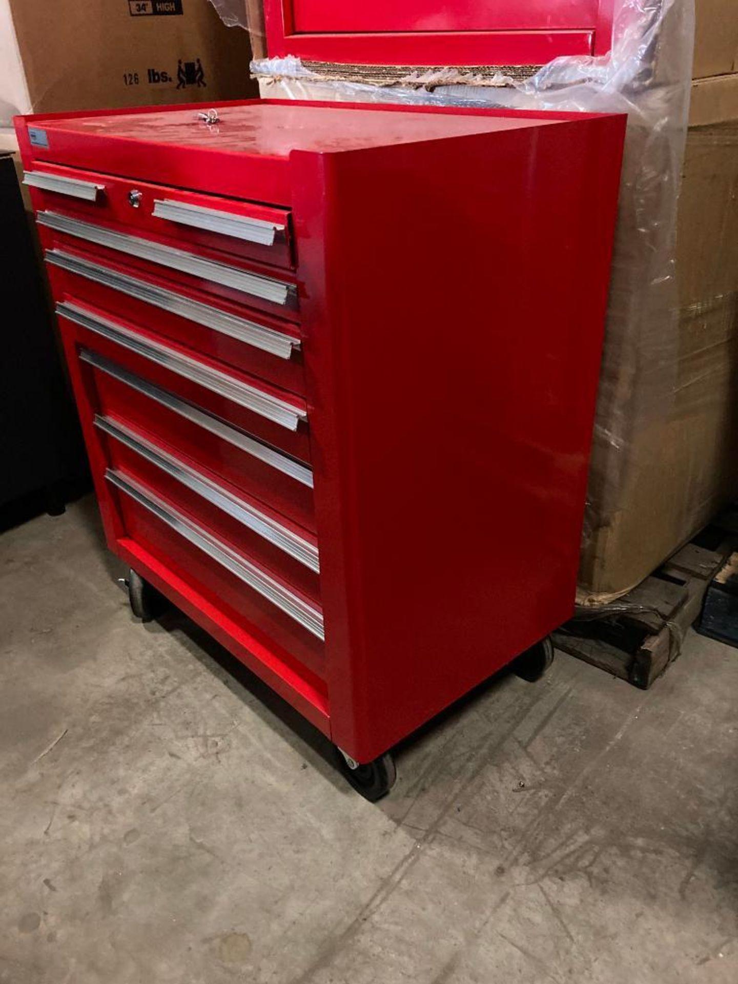 (NEW) EDSEL 7-DRAWER ROLLING TOOL BOX BASE CABINET; 31.5''W X 19''D X 36''H; LOCKING W/KEYS - Image 3 of 3