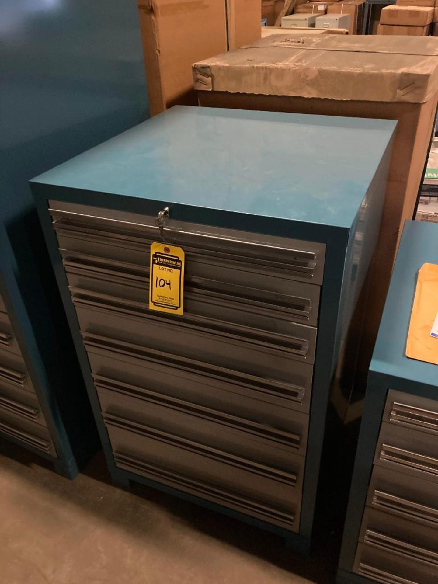 (2X) (NEW) EDSAL 7-DRAWER HEAVY DUTY MODULAR TOOLING CABINETS, 28.25''W X 44.5''H X 28.25''D, MODEL - Image 2 of 2