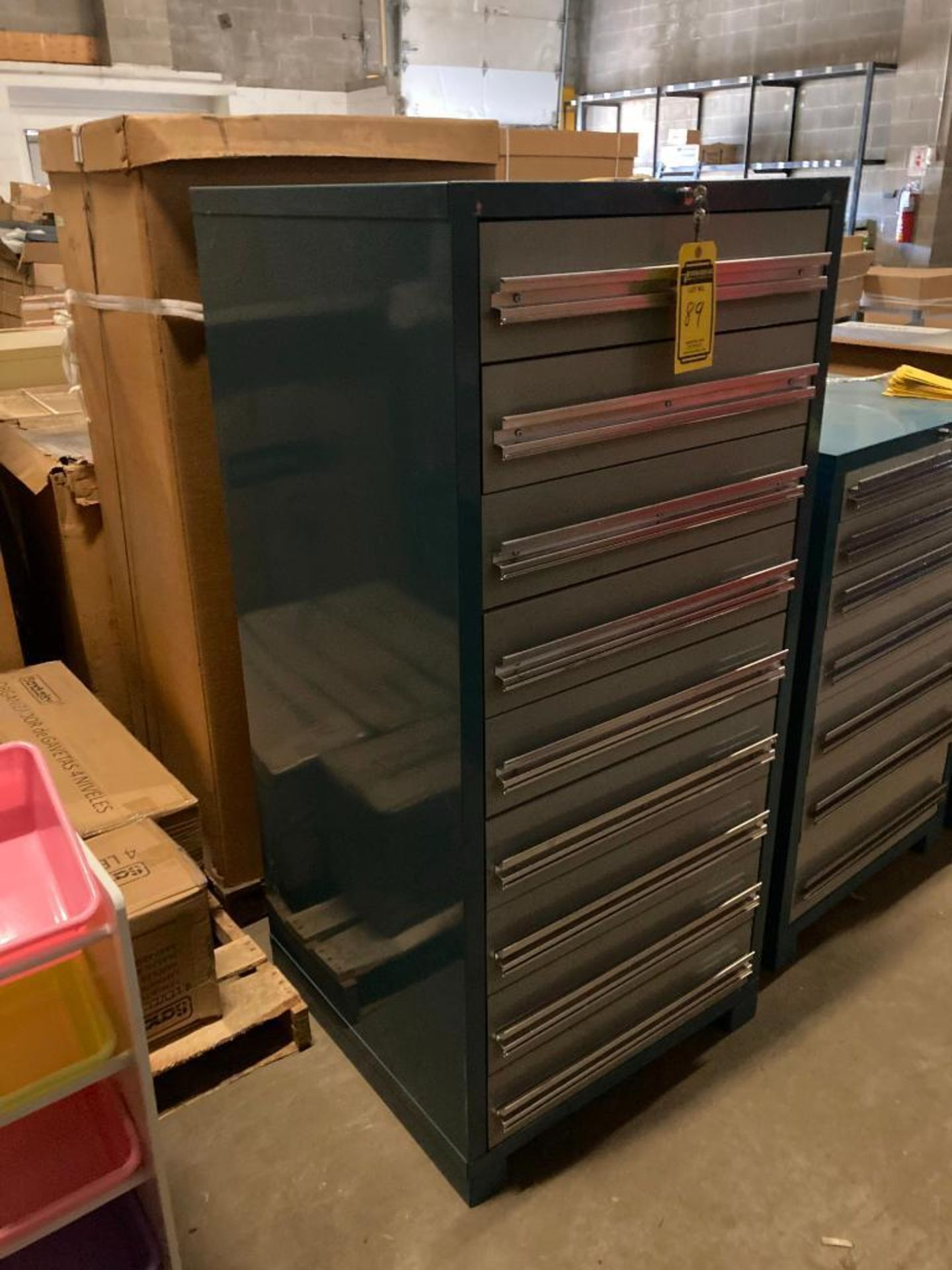 (2X) (NEW) EDSAL 9-DRAWER HEAVY DUTY MODULAR TOOLING CABINETS, 28.25''W X 61.5''H X 28.25''D, MODEL - Image 2 of 2