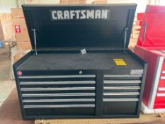 (NEW) CRAFTSMAN PROFESSIONAL SERIES 11-DRAWER TOP TOOL CHEST, 40.5'' X 18''