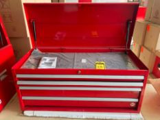 (NEW) INTERNATIONAL 4-DRAWER TOP TOOL CHEST, 40'' X 18'', RED