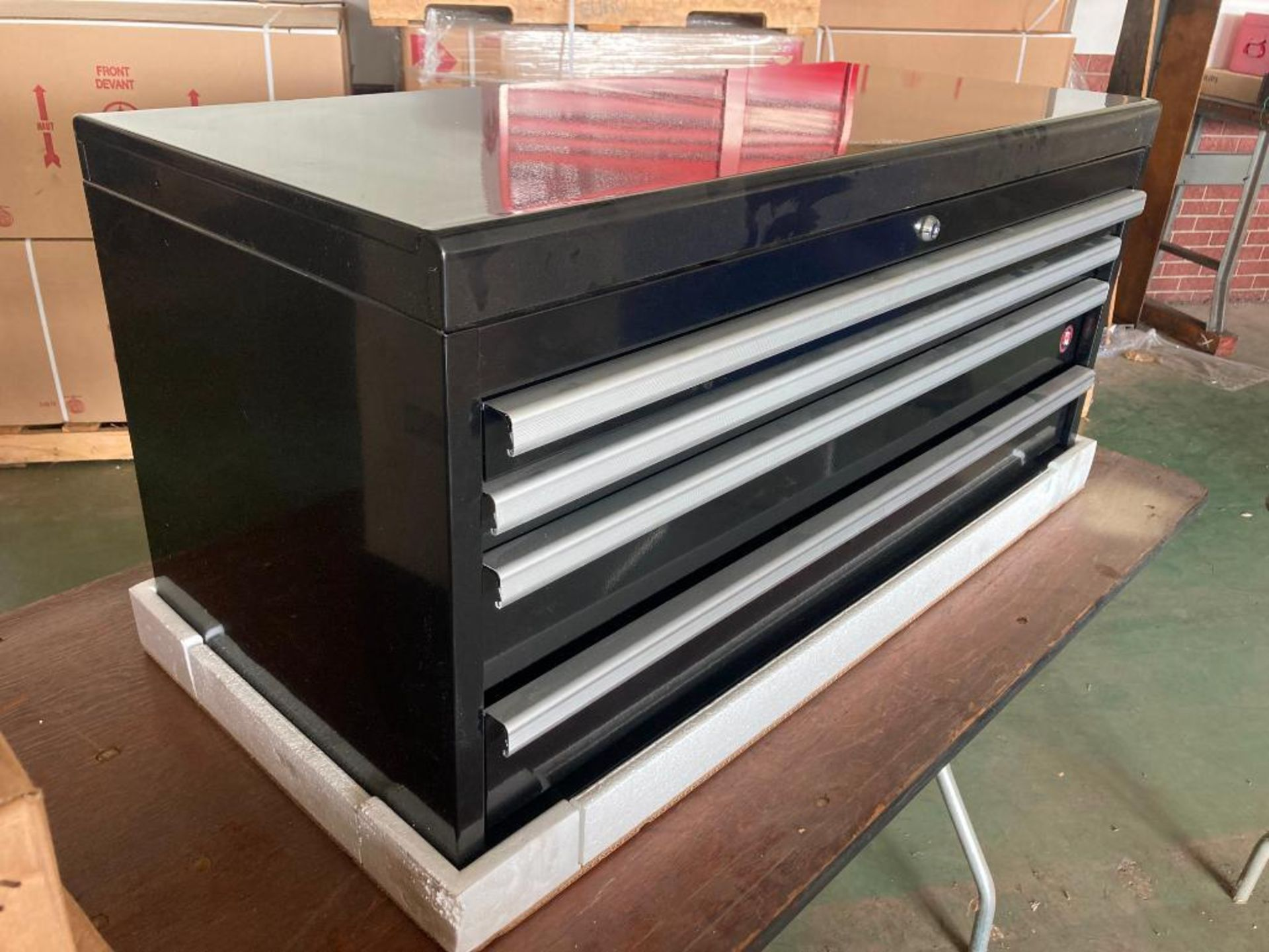 (NEW) INTERNATIONAL 4-DRAWER; TOP TOOL CHEST; 40'' X 18''; BLACK - Image 2 of 2