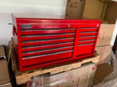 (NEW) BRITOOL 11-DRAWER TOP TOOL CHEST, 40.5'' X 18'', W/ HANDLES, RED