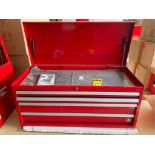 (NEW) INTERNATIONAL 4-DRAWER TOP TOOL CHEST; 40'' X 18''; RED