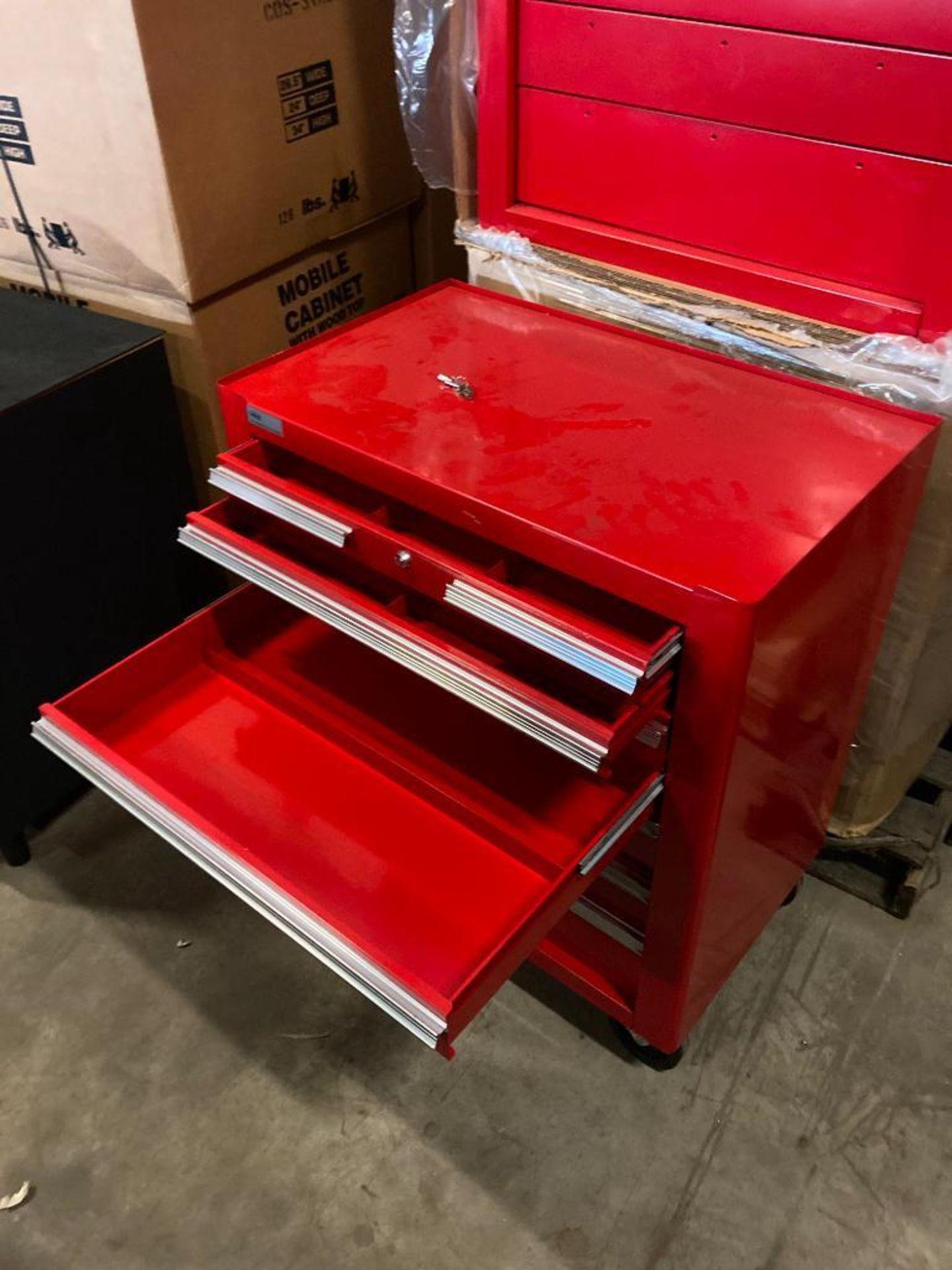 (NEW) EDSEL 7-DRAWER ROLLING TOOL BOX BASE CABINET; 31.5''W X 19''D X 36''H; LOCKING W/KEYS - Image 2 of 3