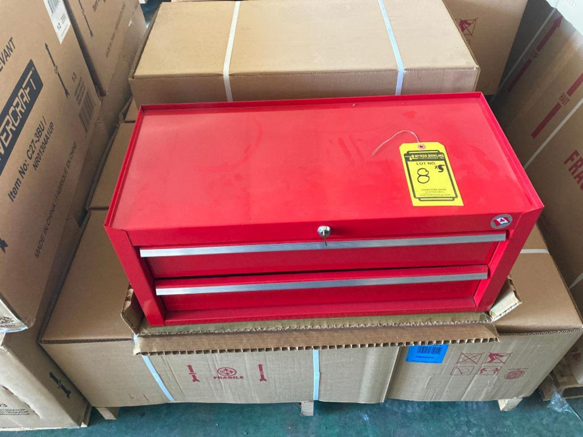 (3X) (NEW) EVERCRAFT 4-DRAWER TOP TOOL CHESTS, 26'' X 12''