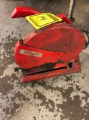 MILWAUKEE 14'' ABRASIVE CUT-OFF SAW, CAT NO. 6175, S/N 98243243, 3500 RPM, 15 AMPS, AC/DC VOLTS: 120