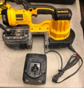 DEWALT CORDLESS BAND SAW, MODEL DC5370, S/N 032365, W/ (1) BATTERY AND CHARGER