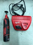 MILWAUKEE CORDLESS ROTARY TOOL, S/N C81AD15260508, W/ (1) BATTERY AND CHARGER