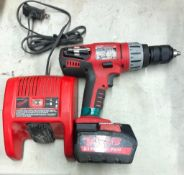 MILWAUKEE 1/2'' CORDLESS HAMMER DRILL, S/N A55A506440768, W/ (1) BATTERY AND CHARGER