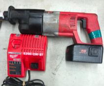 MILWAUKEE CORDLESS SAWZALL, S/N 971B90090065, W/ (1) BATTERY AND CHARGER