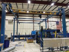 GORBEL 4,000-LB. FREE-STANDING CRANE SYSTEM (DISASSEMBLED), APPROX. 21' X 40', 14'+ TO BOTTOM OF BRI