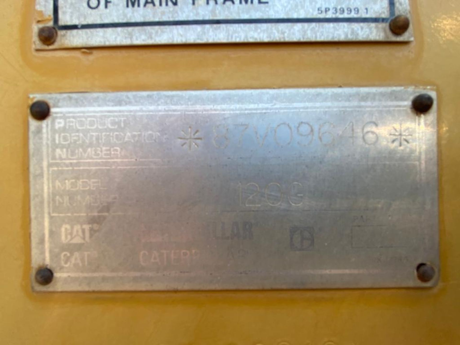 Caterpillar 120G Motor Grader, Serial number 87V09646, Motor number PQ883-2/07Z28983 - Image 56 of 61