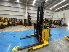 Hyster Electric Platform High Lift Stacker Model S1.5S, SN C442T03146R, Year 2017, 1.5 tons capacity