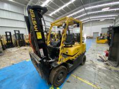 Hyster Forklift, Model H2.5XT, S/N D466R03051P, Year 2016,Nissan LP gas motor, 5000 lb capacity