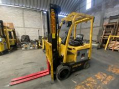 Hyster Electric Forklift, Model E50XN, S/N A268N20184P, Year 2016, 4750 lb capacity