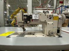 Juki Floor Sewing Machine of one needle, model LU-2210N-7, Serie number 3L8XH07986