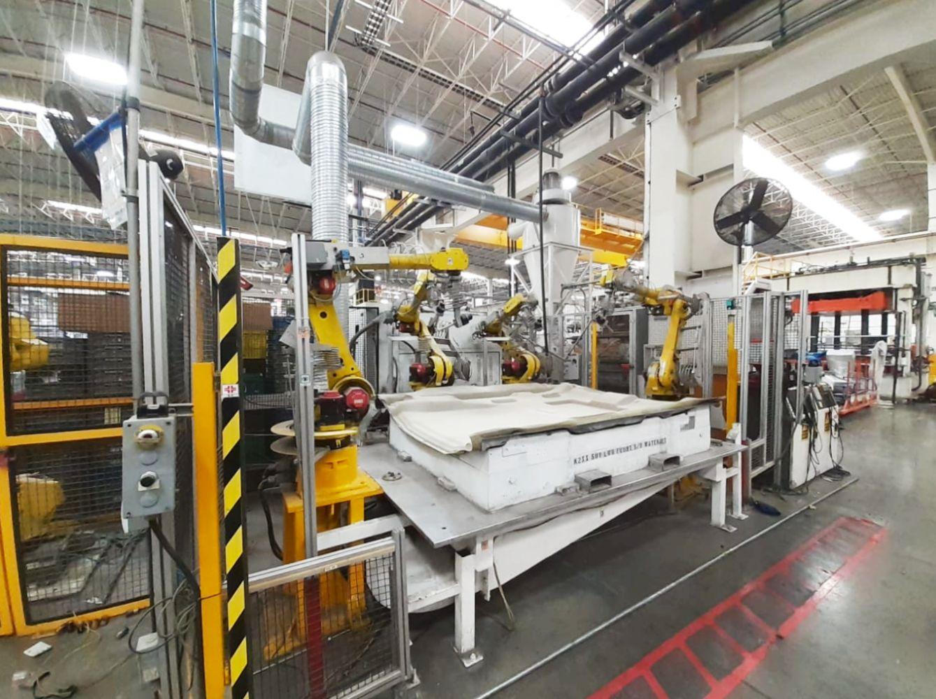 Water jet cutting machines, Fanuc articulated robots, Sewing machines and spare parts