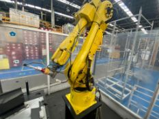 Welding cell in steel square profile structure, equipped with Fanuc articulated Robot,