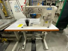 Juki Pole Sewing Machine of two needles, model PLC-2760-7, Serie number 3P0HM01104