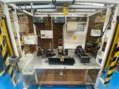 Ansa Semi-automatic cell for verification of parts in a square steel profile structure