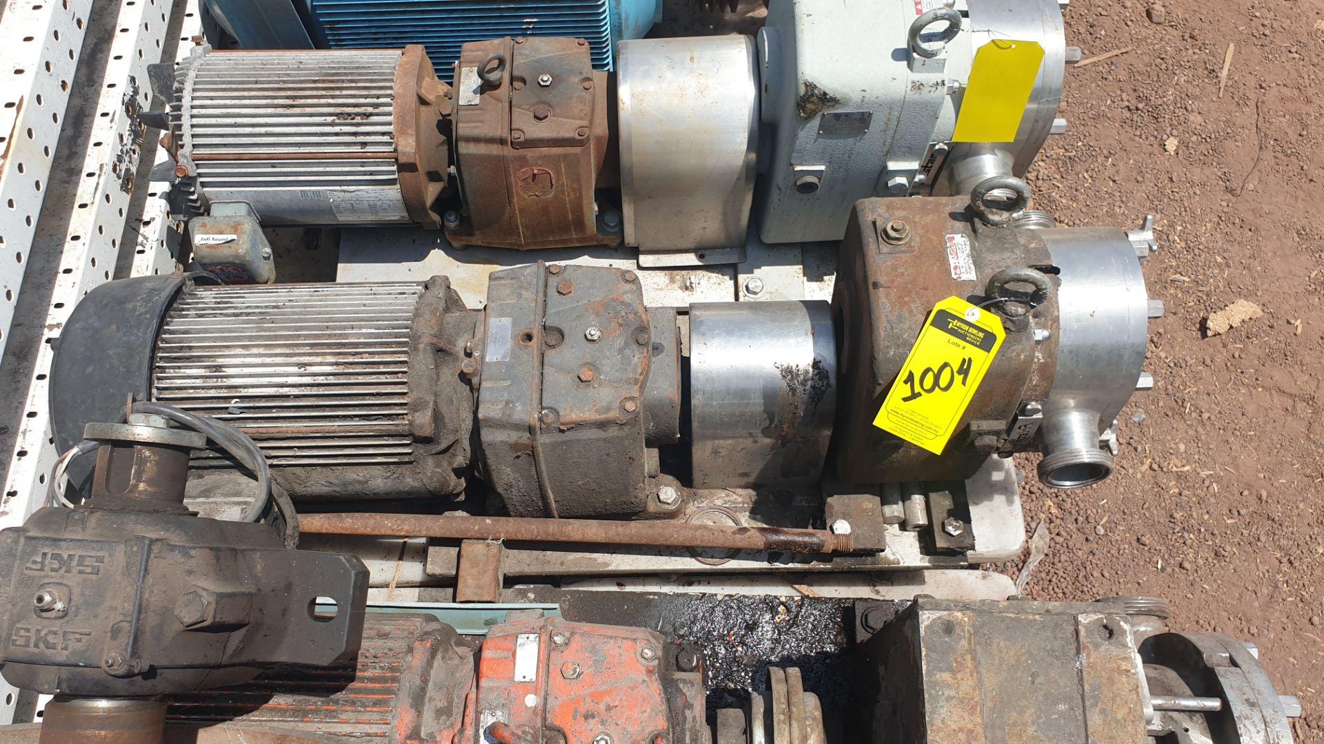Fristam Lobe pump, model FKL75A serial number FKL75A1315303 includes motor - Image 6 of 9