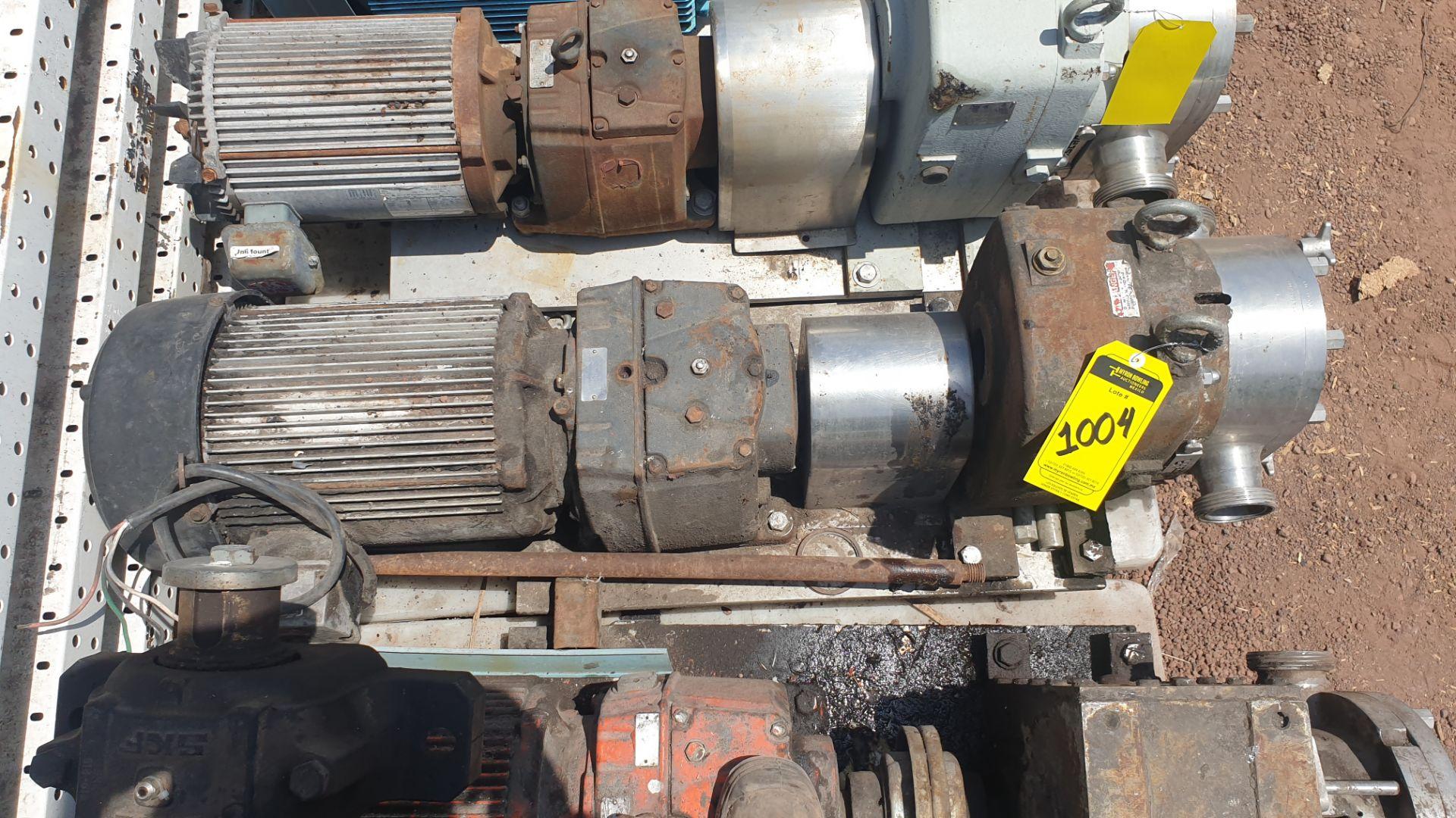 Fristam Lobe pump, model FKL75A serial number FKL75A1315303 includes motor - Image 4 of 9