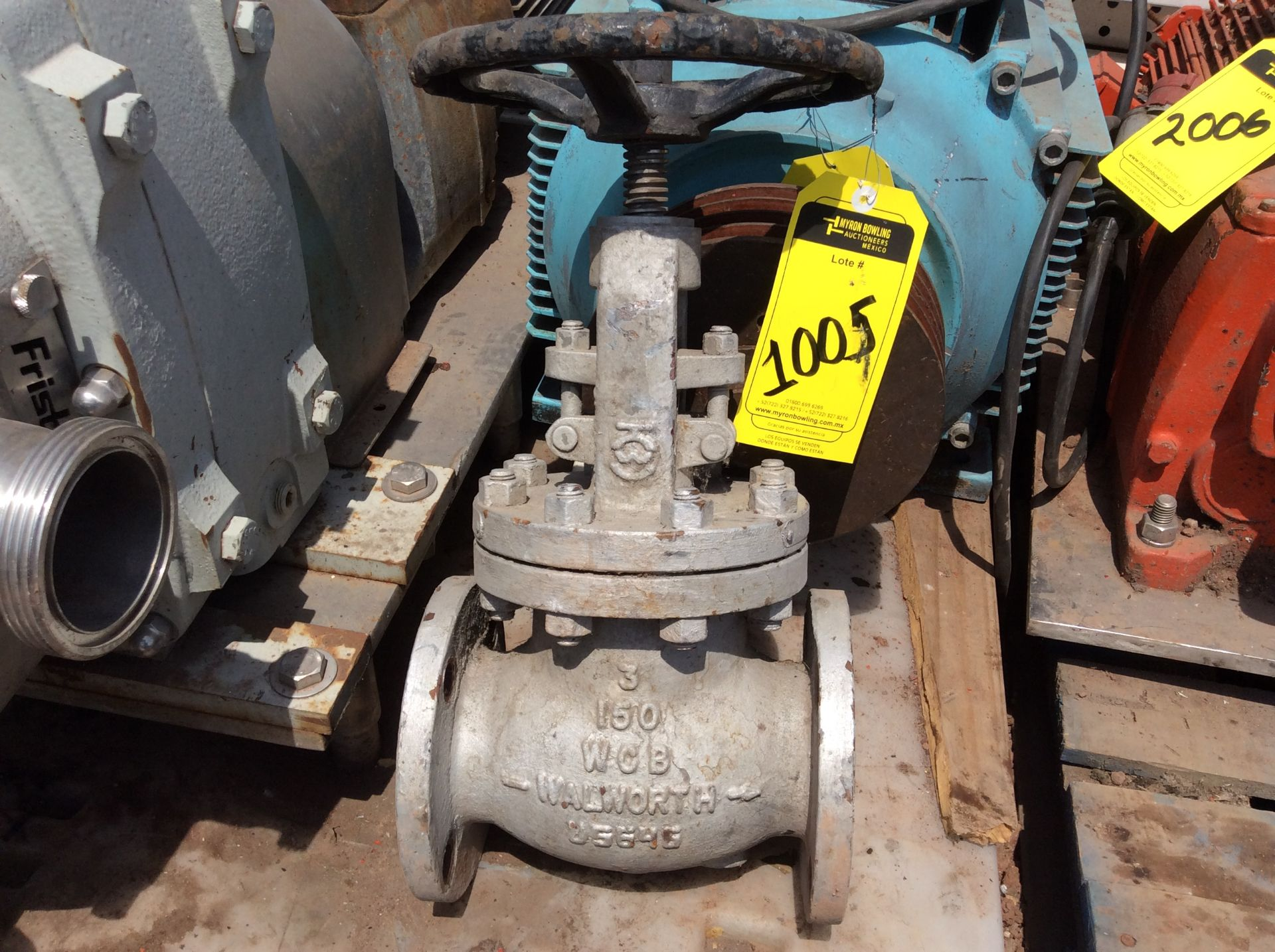 3 Walworth gate valves of three inches - Image 13 of 13
