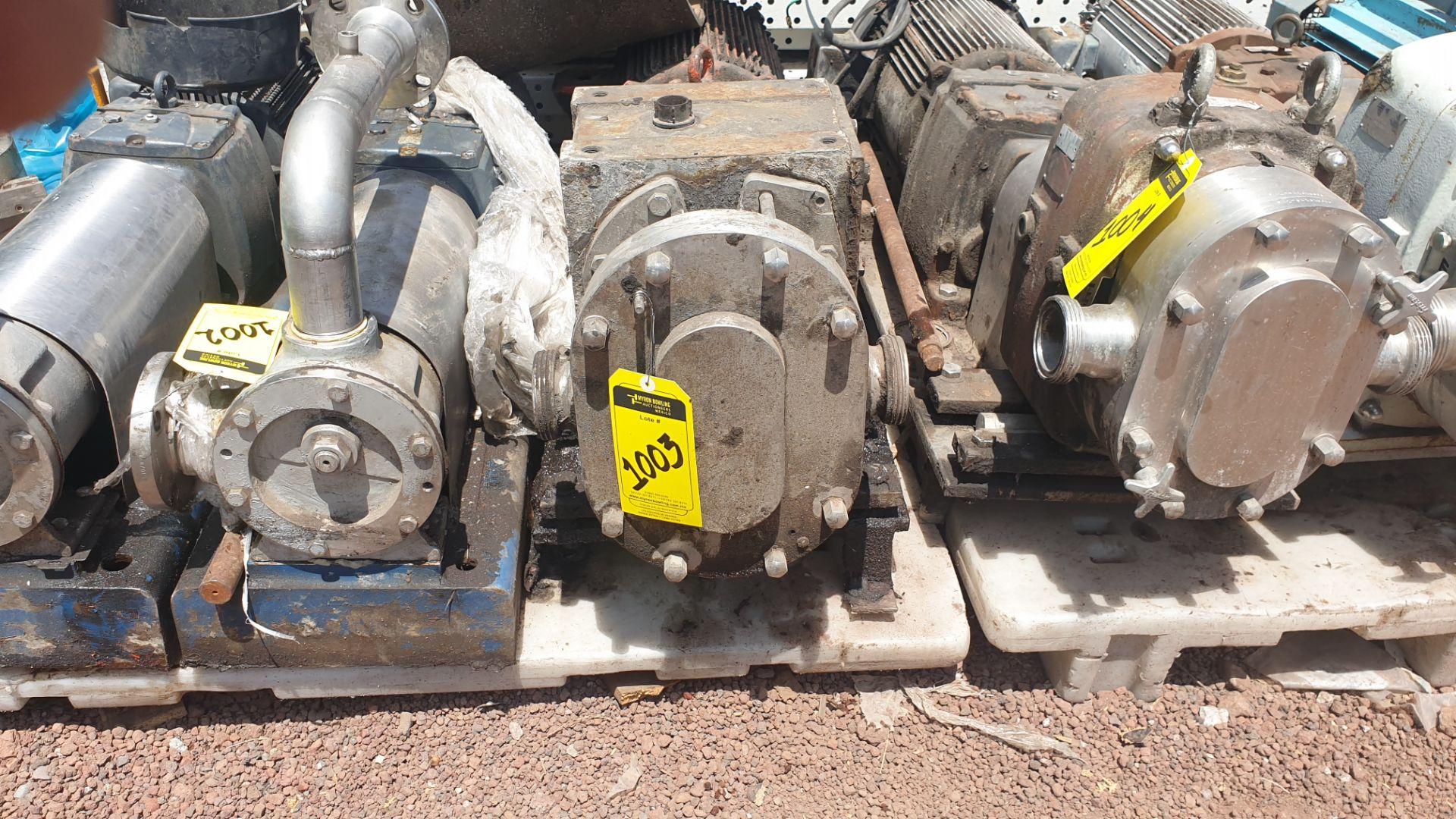 Fristam Lobe pump, includes emerson motor capacity 15HP 230v -460v