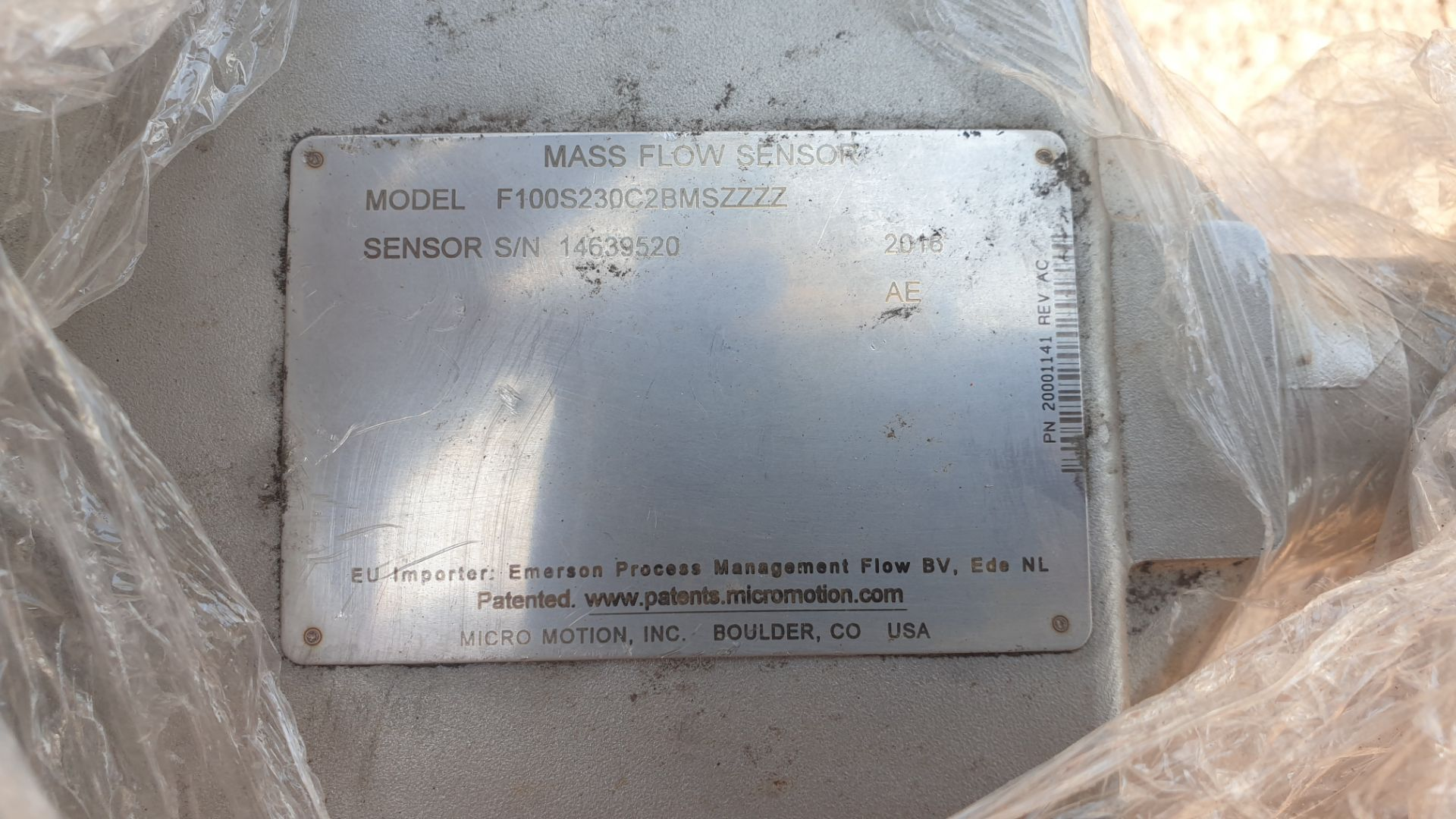 Micromotion Flow meter, model F100S230C2BMSZZZZ NS 14639520 2016 - Image 4 of 10