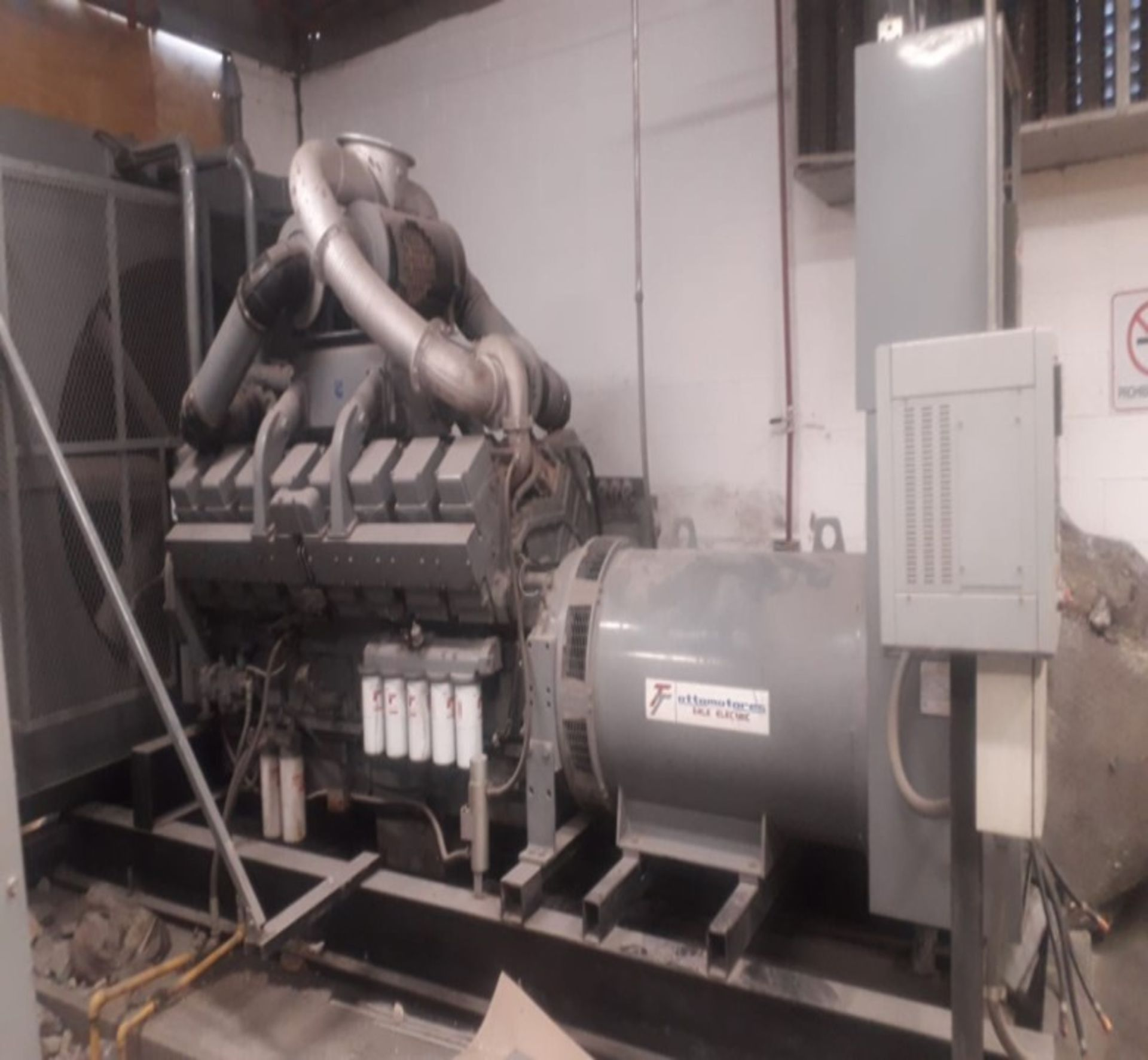 Ottomotores Emergency Plant capacity 1133 KW/1416 KVA, voltage 2020/440