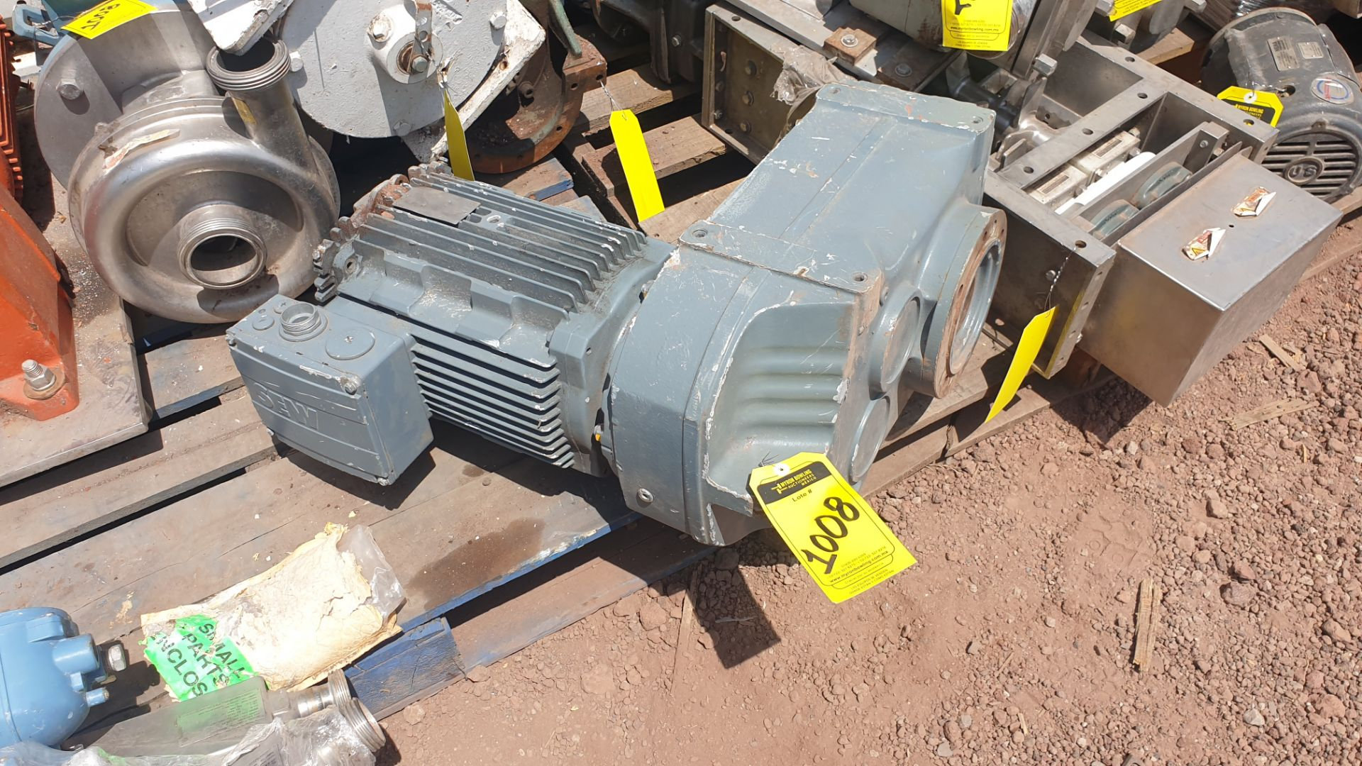 1 ABB motor without plate, 1 ABB motor model M2AA160M2 15KW - Image 7 of 15