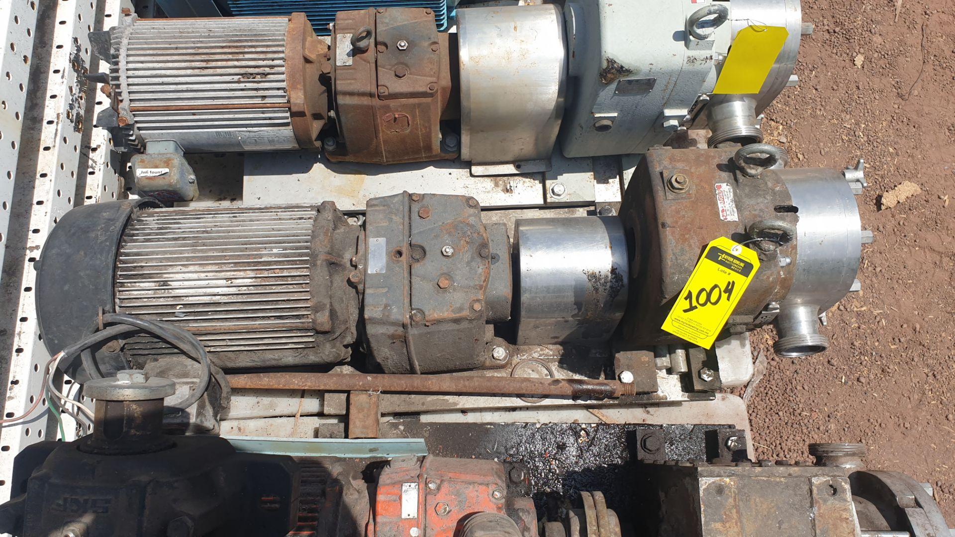 Fristam Lobe pump, model FKL75A serial number FKL75A1315303 includes motor - Image 5 of 9